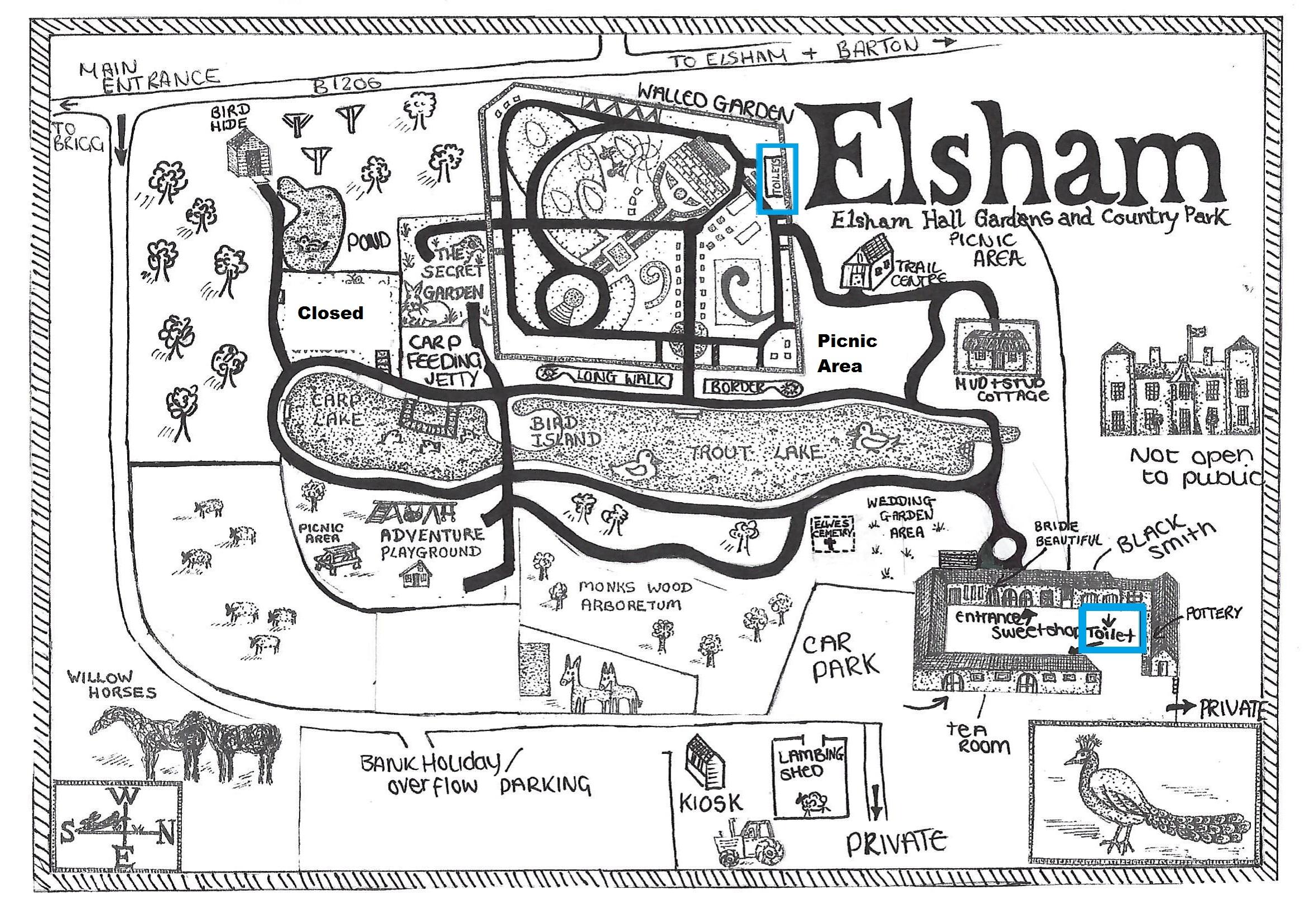 Elsham Hall Park Map 2021