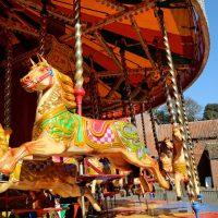 carousel in courtyard